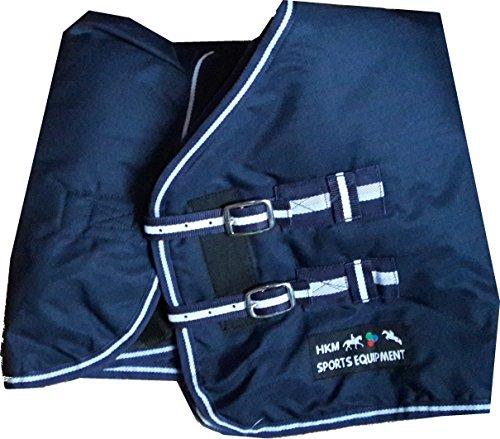 HKM Weidedecke -Economic Winter- mit 100 g Wattefüllung, Rückenlänge 145 cm, dunkelblau -