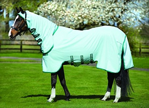"Horseware Rambo Pony Sweetitch Hoody Fliegen Blatt 5-3"" Ice Green/Green -"