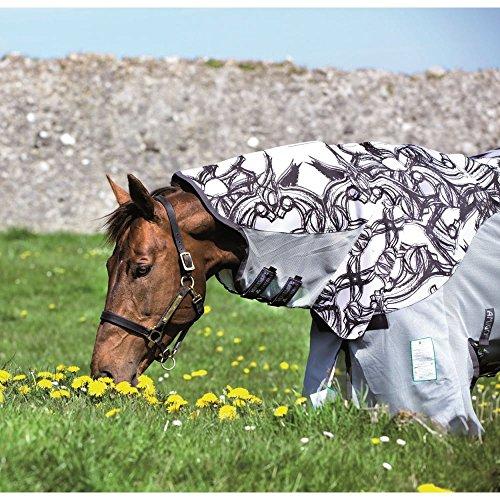 Horseware regengeeignete Fliegendecke Amigo Three-In-One Vamoose Silver/Black (printed) 100-165 (160) -