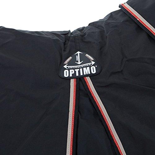 Pferdedecke Horseware Rambo Optimo mit Liner und Halsteil 155cm Black/Orange & Black -