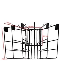 BR Deckenhalter für 6 Decken schwarz Metall drehbare Bügel Wandhalter -