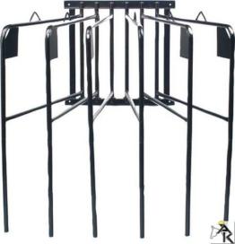 Pferde Deckenhalter, 6 armig, schwenkbar, schwarz| Pferde Deckenhalterung sechsarmig -